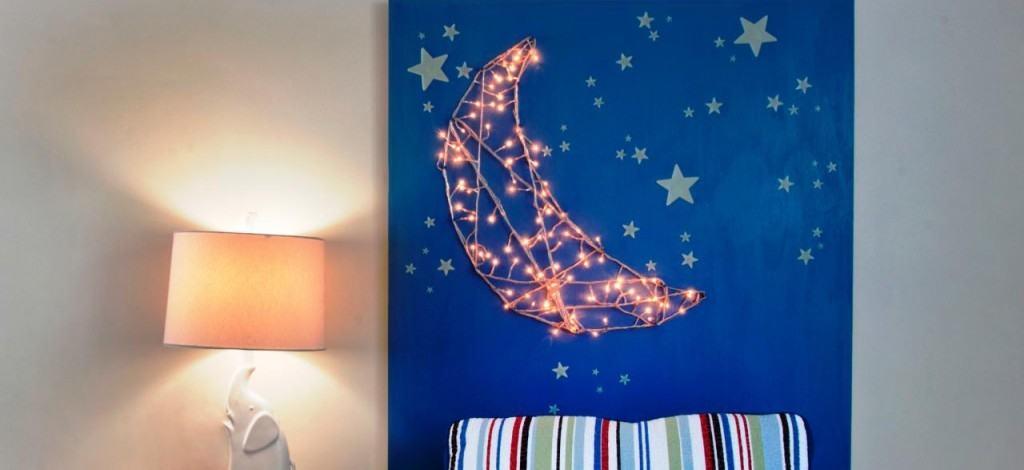 Christmas Lights Moon