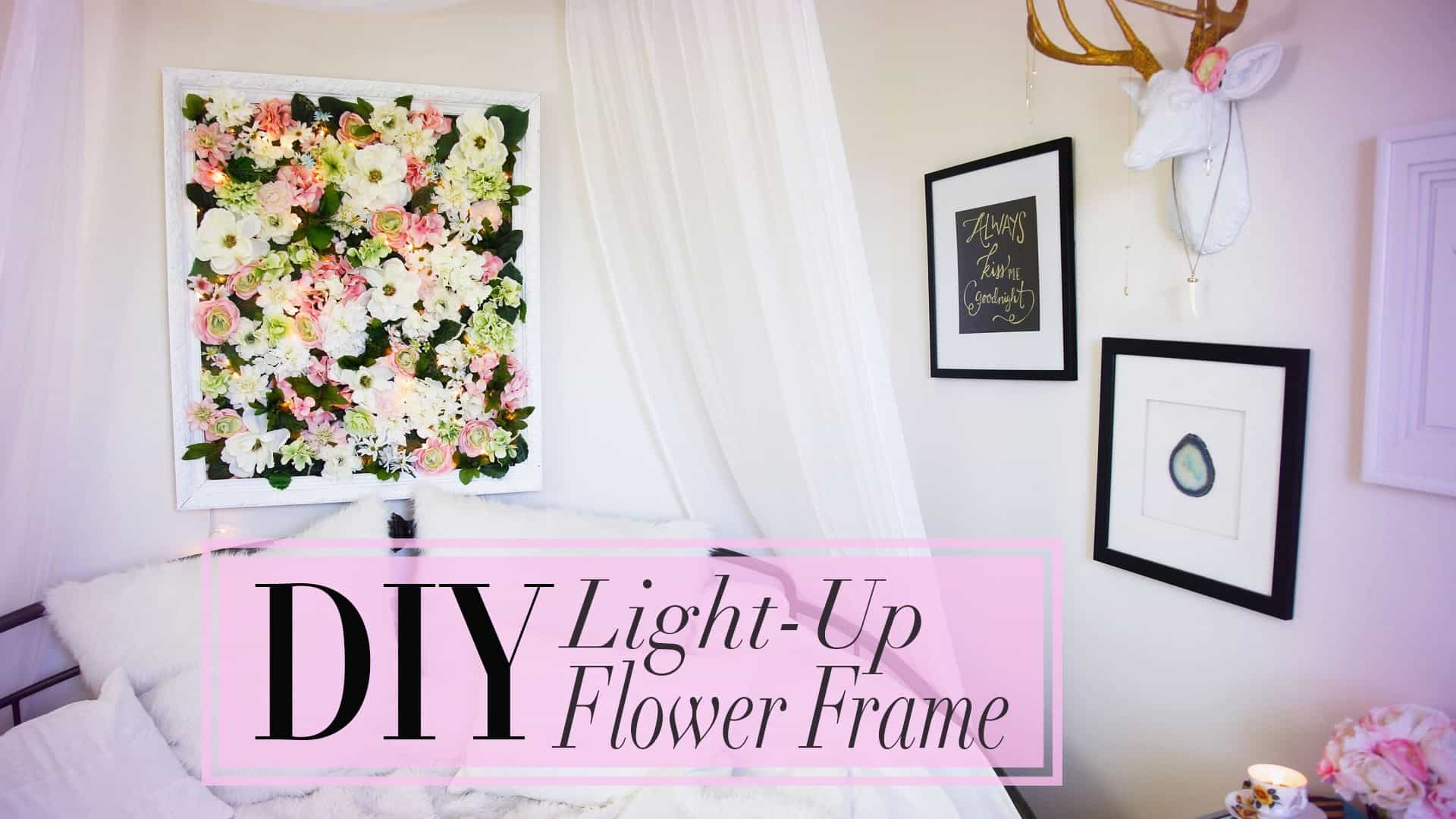 Diy Flower Frame With Christmas Lights