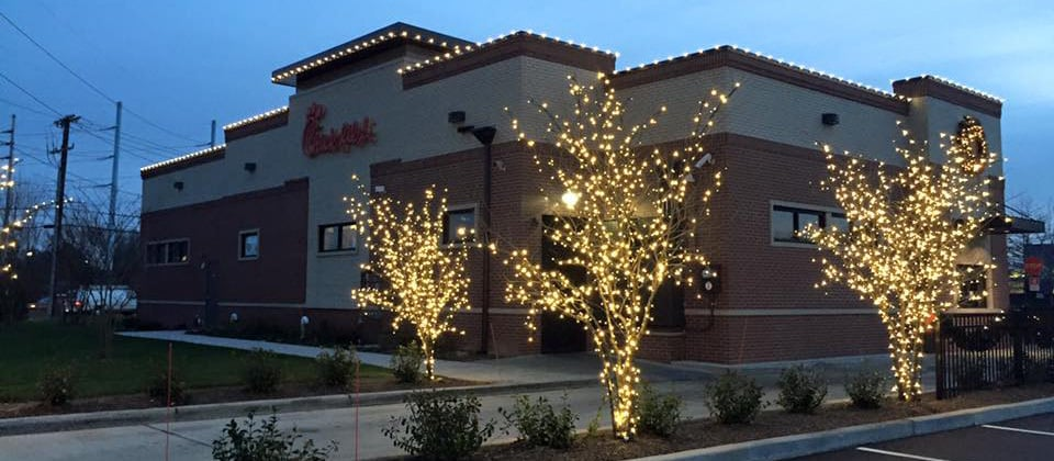 Let your business shine with Christmas light installation