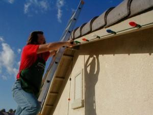 Ladder to Hang Christmas Lights