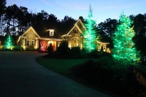 Christmas Light Installation by We Hang Christmas Lights