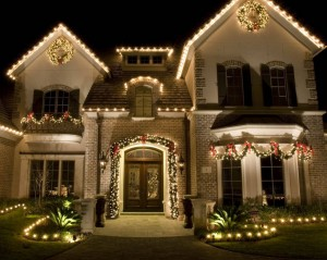 Christmas lighting installation