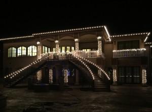 Christmas Lights on Beautiful House