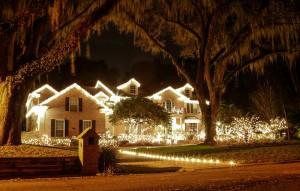 All white whimsical Christmas Lights