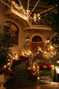 Commercial Christmas Lights Stairs