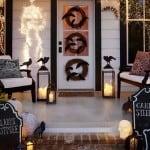Christmas Lights for Halloween Porch
