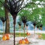 Christmas Lights for Halloween Broom