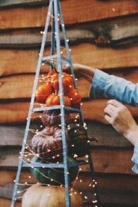 Christmas Lights for Halloween Tree