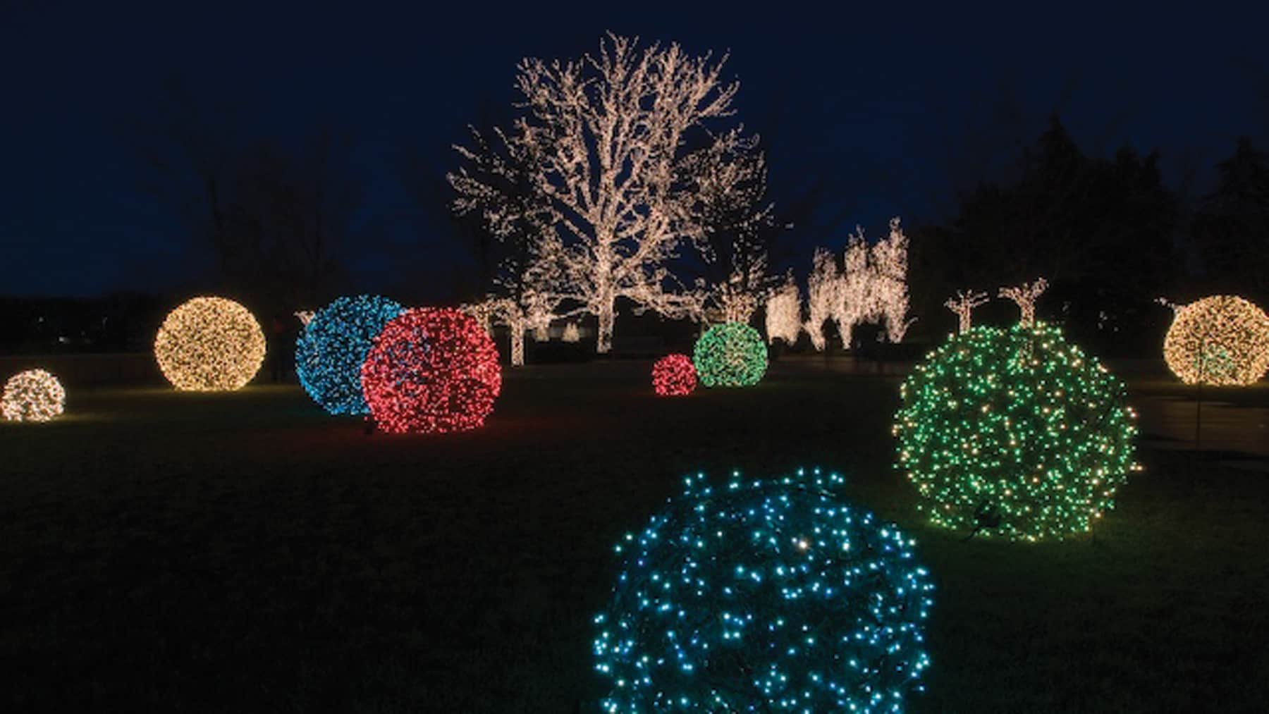 How to make lighted christmas balls for Outdoor lighted ornaments