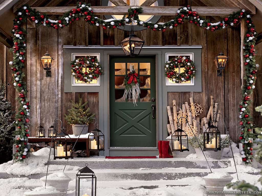 Outdoor christmas window decorations - Christmas Decorating Ideas For Your Porch