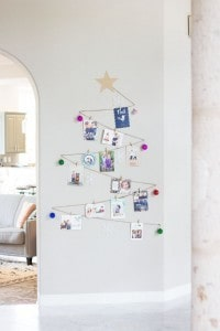 Wall Christmas Tree with Cards