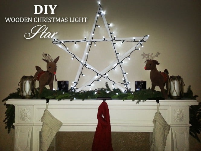DIY Wooden Christmas Light Star