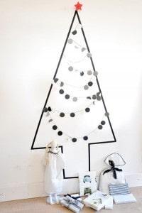 Modern Simple Wall Christmas Tree