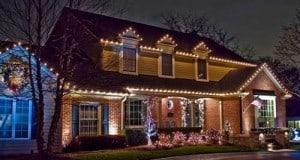 Residential Christmas Light Installation Roofline