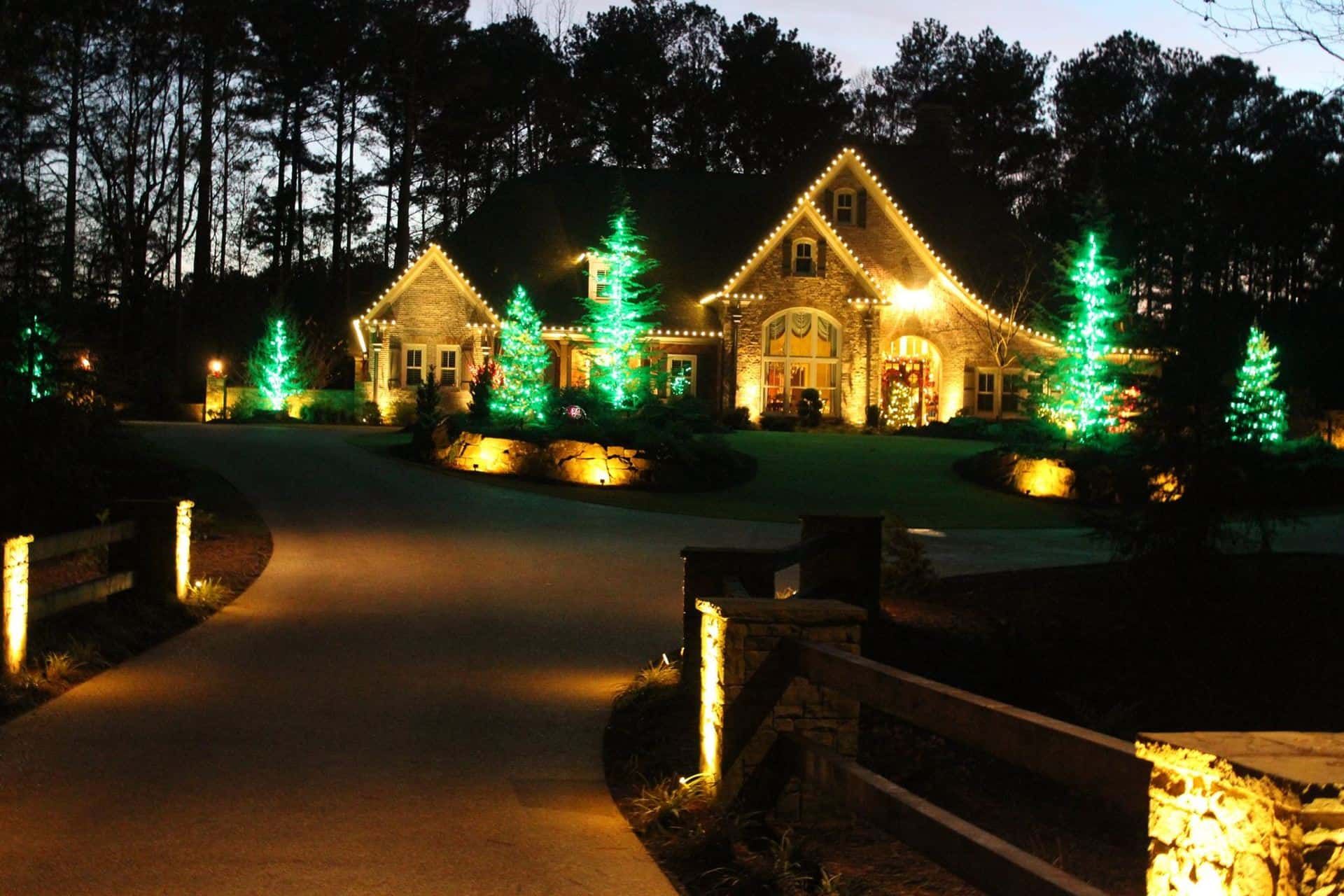 christmas light installation - Christmas Light Decorating Service