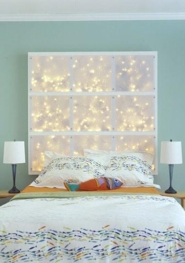 Christmas Lights for Headboard