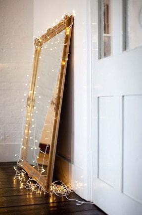 Lights around mirror