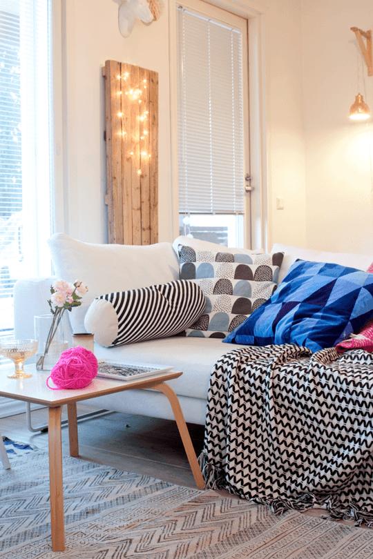 home decor using christmas lights