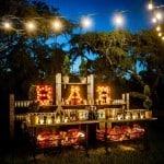 Christmas Lights above Bar