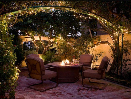 creative outdoor lighting ideas. String Lights Above Fire Creative Outdoor Lighting Ideas 3
