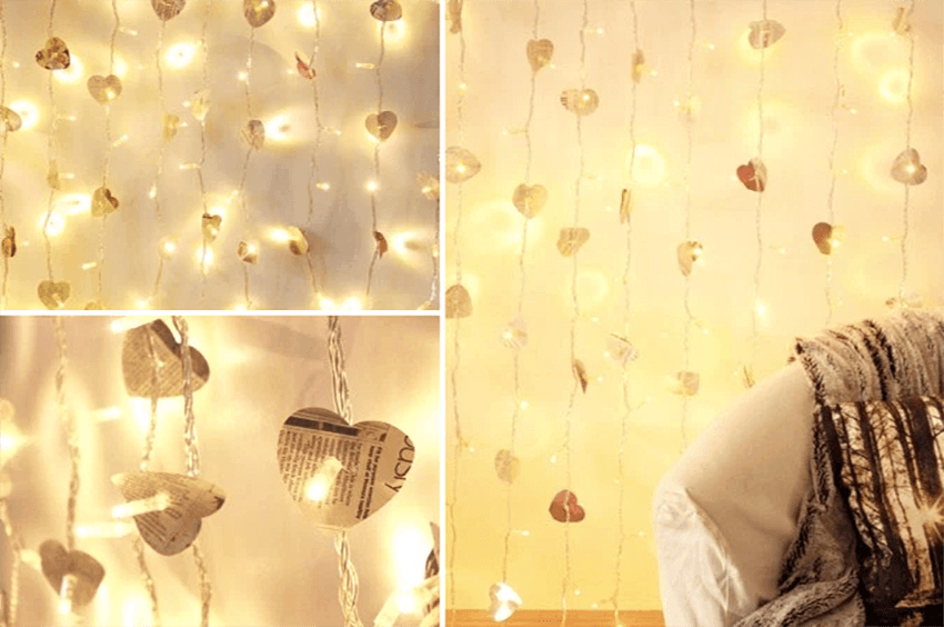 HEART FAIRY LIGHT BACKDROP