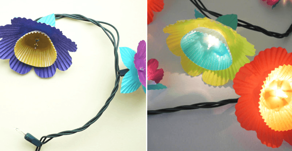 DIY Floral Lights