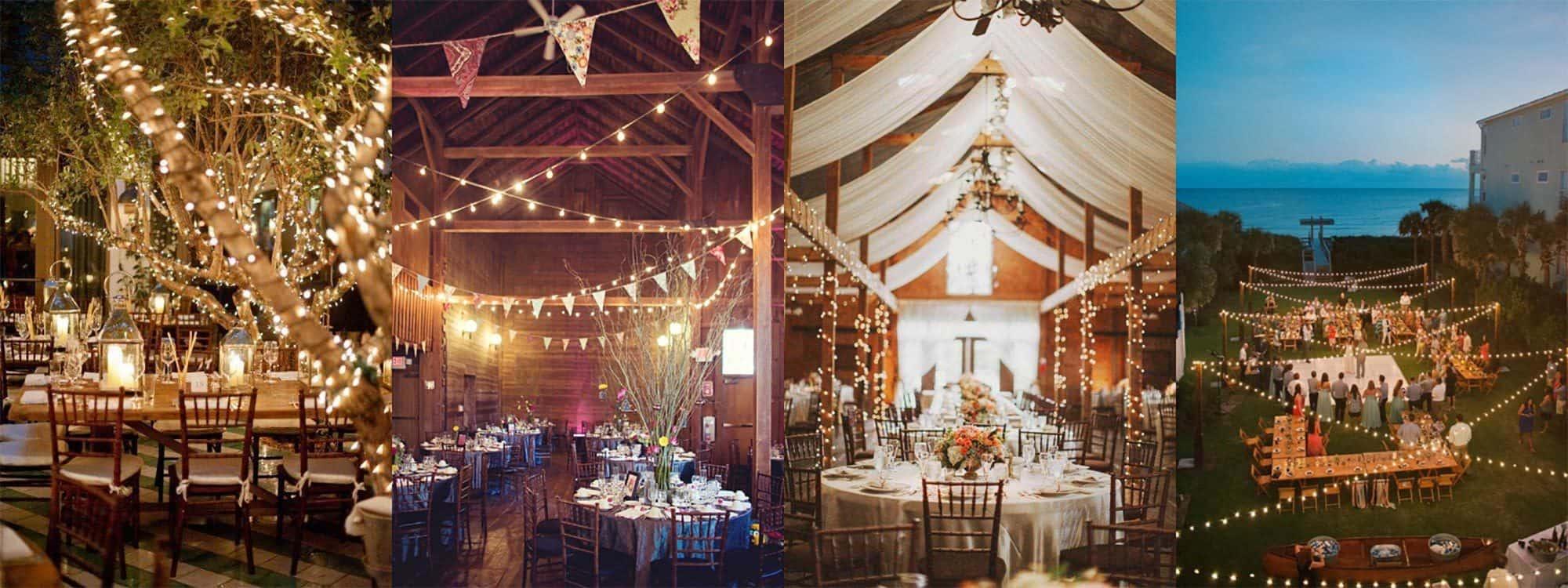 How to use christmas lights for weddings