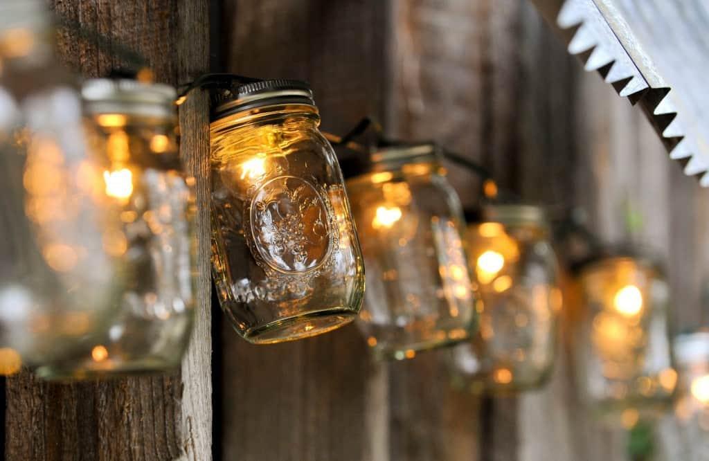 Wedding lights mason jar