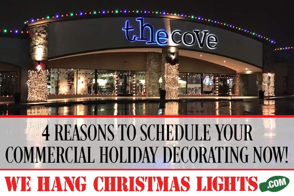 commercial holiday decorating