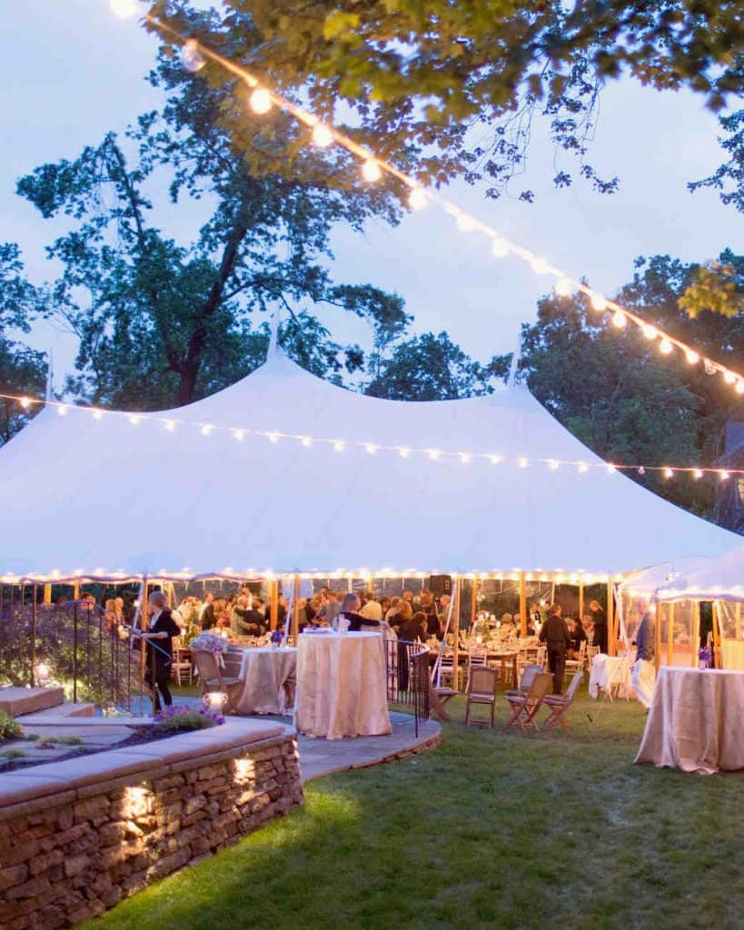 Popular Outdoor Wedding Reception Lighting