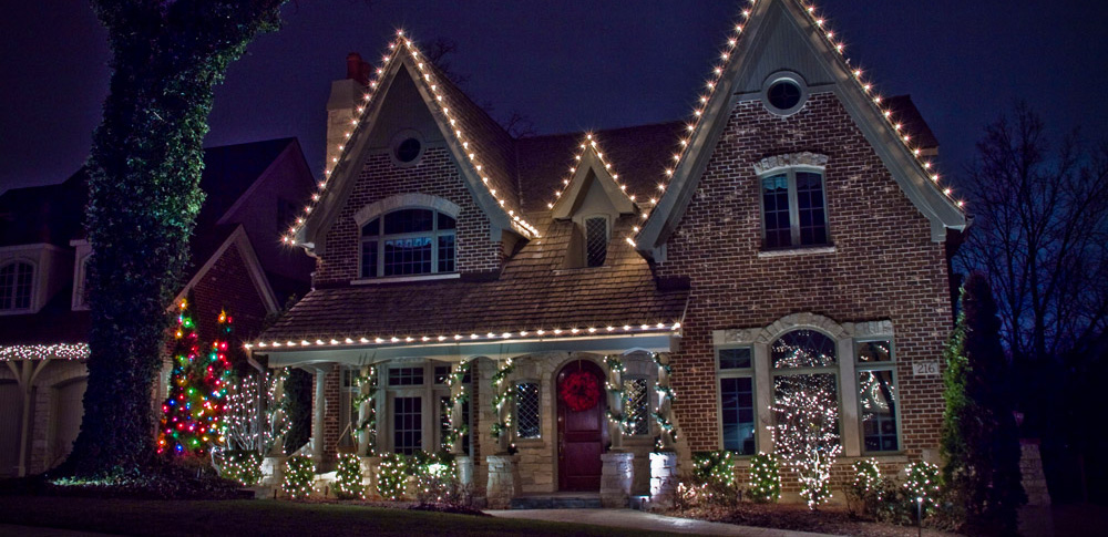 residential christmas light installations - Christmas Light Hanging Service