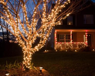 christmas light installation photos