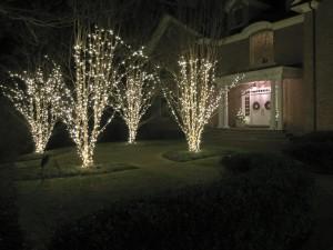 Christmas decor installation