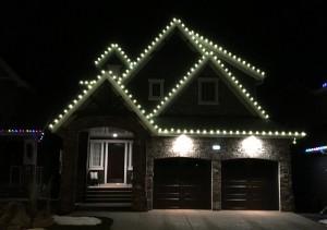 Christmas Lights on Roofline