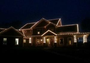 Warm White Christmas Light Installation
