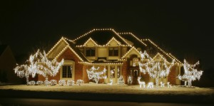 Christmas Light Display on House