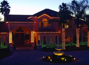 Christmas Lights Installed on Home