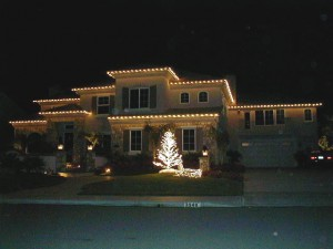 Warm White Christmas Lights on Home